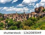 panoramic view of sorano  in... | Shutterstock . vector #1262085049