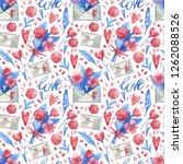 watercolor seamless pattern... | Shutterstock . vector #1262088526
