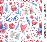 watercolor seamless pattern... | Shutterstock . vector #1262088529
