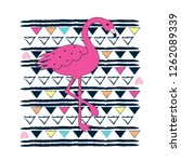 flamingo on abstract background ...   Shutterstock .eps vector #1262089339