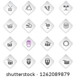 rhythm instruments flat rhombus ... | Shutterstock .eps vector #1262089879