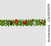 christmas border isolated... | Shutterstock . vector #1262093059