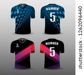 football club t shirt sport set ... | Shutterstock .eps vector #1262096440