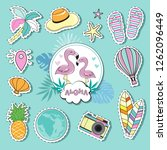 fashion patch with two... | Shutterstock .eps vector #1262096449