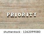 letter block in word priority... | Shutterstock . vector #1262099080