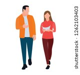 office people flat icon design  ... | Shutterstock .eps vector #1262103403