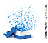 gift box with hearts | Shutterstock .eps vector #126210836