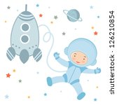 an illustration of cute little... | Shutterstock .eps vector #126210854