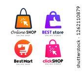 shopping store logo design... | Shutterstock .eps vector #1262110879
