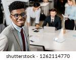 selective focus of smiling... | Shutterstock . vector #1262114770