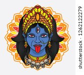 traditional flash tattoo kali... | Shutterstock .eps vector #1262122279