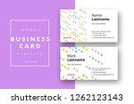 trendy minimal abstract... | Shutterstock .eps vector #1262123143