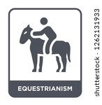 equestrianism icon vector on... | Shutterstock .eps vector #1262131933