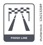 finish line icon vector on... | Shutterstock .eps vector #1262132089