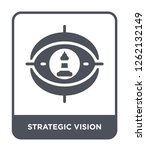 strategic vision icon vector on ... | Shutterstock .eps vector #1262132149