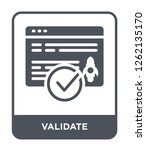 Stock vector validate icon vector on white background validate trendy filled icons from startup stategy and 1262135170