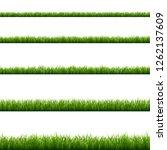 green grass big set | Shutterstock . vector #1262137609