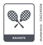 rackets icon vector on white... | Shutterstock .eps vector #1262140336