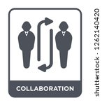 collaboration icon vector on...   Shutterstock .eps vector #1262140420