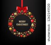 happy christmas card  | Shutterstock . vector #1262145520