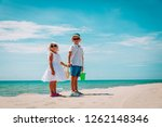 kids   little boy and girl ... | Shutterstock . vector #1262148346