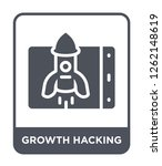 growth hacking icon vector on... | Shutterstock .eps vector #1262148619