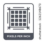 pixels per inch icon vector on... | Shutterstock .eps vector #1262148673