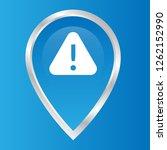 warning sign and map pin. logo...