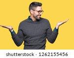 young handsome man wearing... | Shutterstock . vector #1262155456