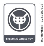 steering wheel toy icon vector... | Shutterstock .eps vector #1262157826