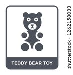 teddy bear toy icon vector on... | Shutterstock .eps vector #1262158033