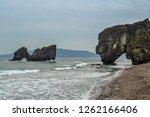 rocky sea shore | Shutterstock . vector #1262166406