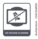 no picking flowers icon vector... | Shutterstock .eps vector #1262166856