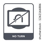 no turn icon vector on white... | Shutterstock .eps vector #1262166886