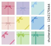 set of colorful wrapping ribbon ...   Shutterstock .eps vector #1262170666