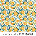 vector seamless pattern. pretty ... | Shutterstock .eps vector #1262174689