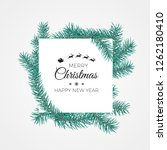 merry christmas and happy new... | Shutterstock .eps vector #1262180410