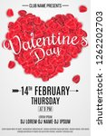 happy valentine's day flyer for ... | Shutterstock .eps vector #1262202703