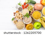 selection of good carbohydrates ... | Shutterstock . vector #1262205700
