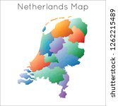 low poly map of netherlands.... | Shutterstock .eps vector #1262215489