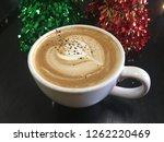 mocha coffee close up top down...   Shutterstock . vector #1262220469