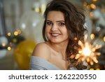 young beautiful woman having... | Shutterstock . vector #1262220550