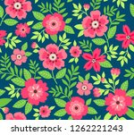 seamless floral pattern for... | Shutterstock .eps vector #1262221243