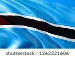botswana flag. 3d waving flag...   Shutterstock . vector #1262221606