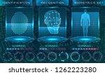 biometric identification... | Shutterstock .eps vector #1262223280