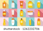 cosmetic sun protection icon... | Shutterstock .eps vector #1262232706