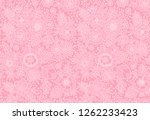 seamless pattern with outline... | Shutterstock .eps vector #1262233423