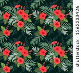seamless pattern with tropical... | Shutterstock .eps vector #1262233426