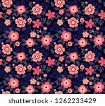 cute floral pattern in the... | Shutterstock .eps vector #1262233429