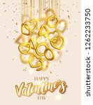 valentines day greeting card... | Shutterstock .eps vector #1262233750